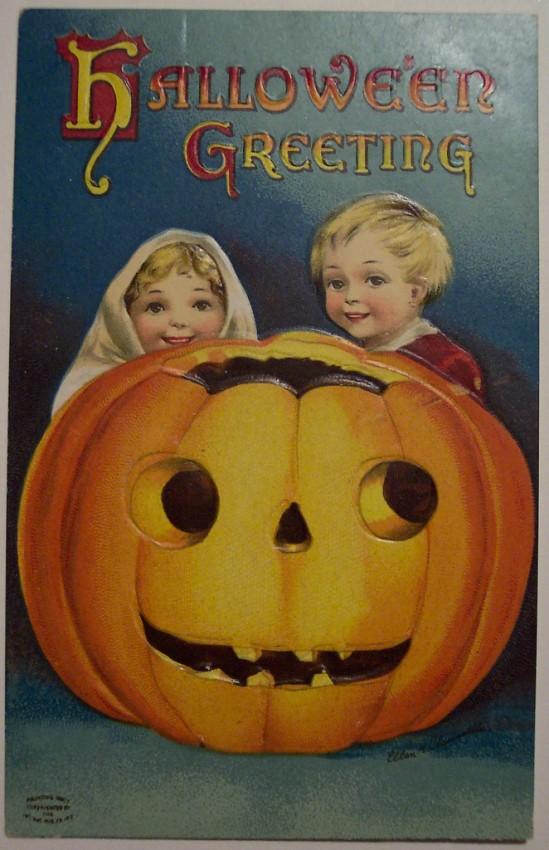 Postal Halloween vintage 008