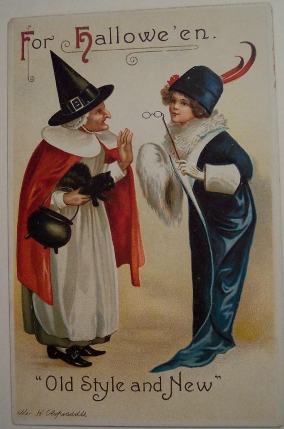 Postal Halloween vintage 009