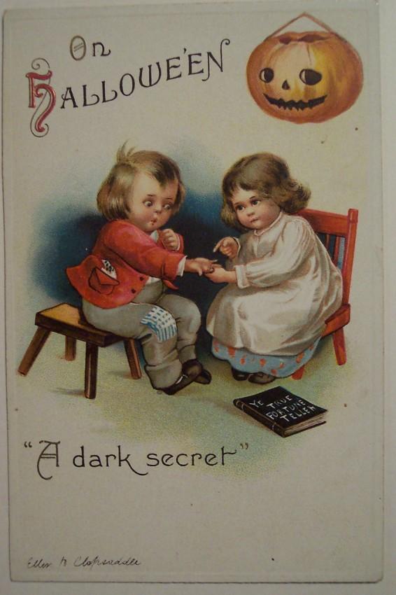 Postal Halloween vintage 010