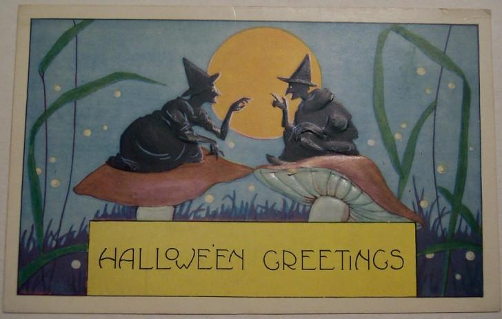 Postal Halloween vintage 011
