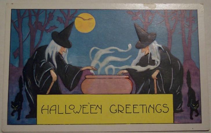 Postal Halloween vintage 012