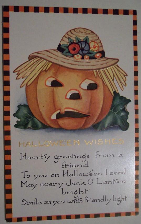 Postal Halloween vintage 013