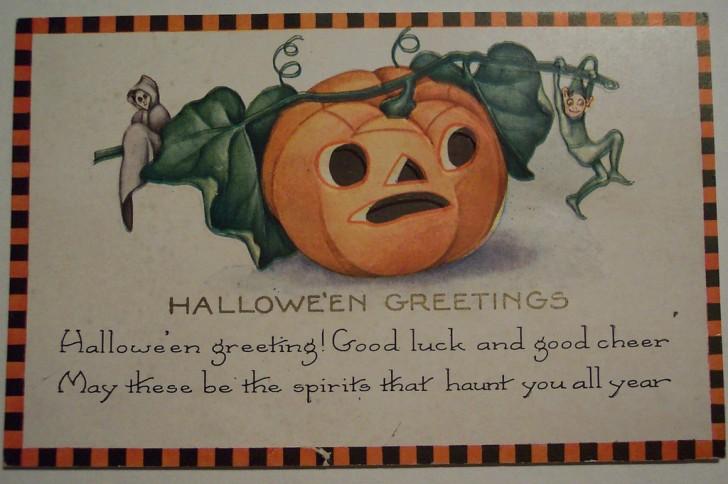 Postal Halloween vintage 014