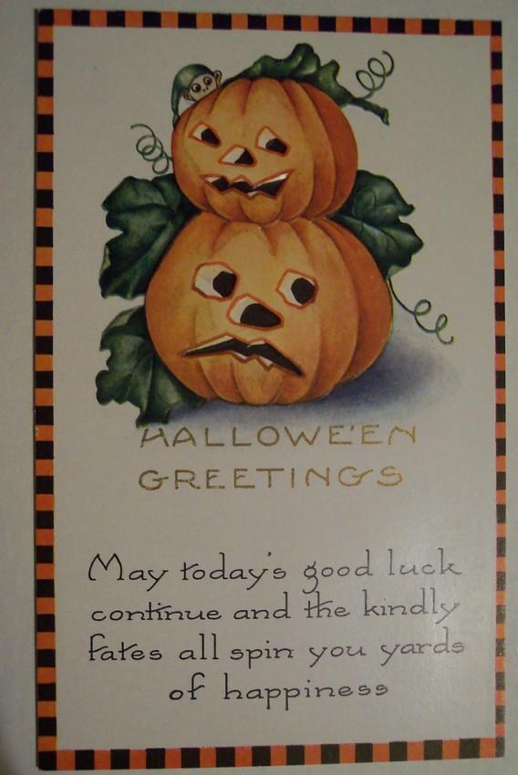 Postal Halloween vintage 015
