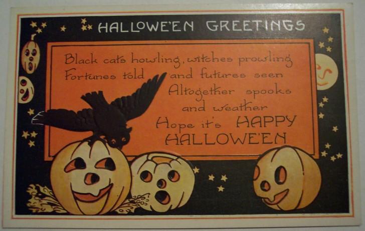 Postal Halloween vintage 016
