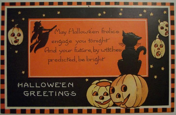 Postal Halloween vintage 017