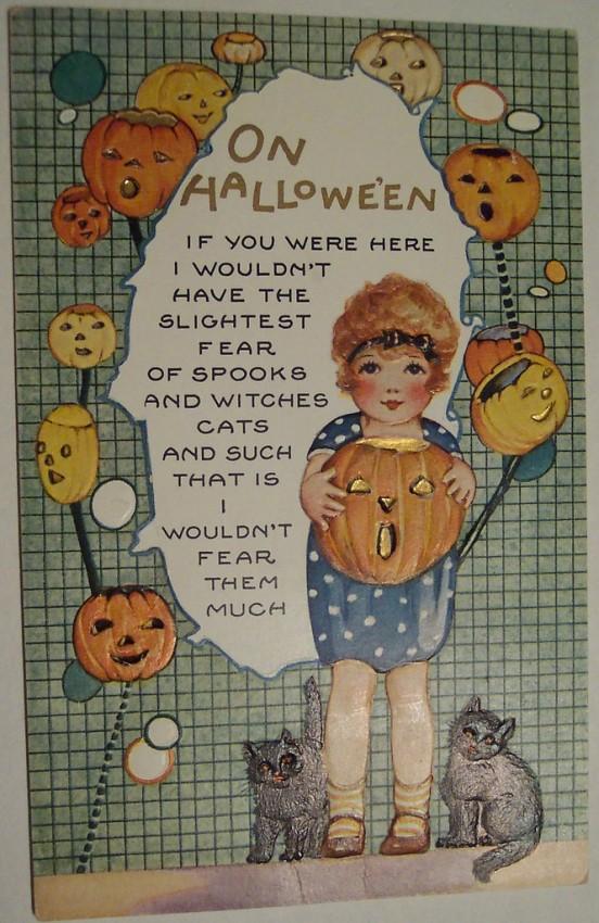 Postal Halloween vintage 018