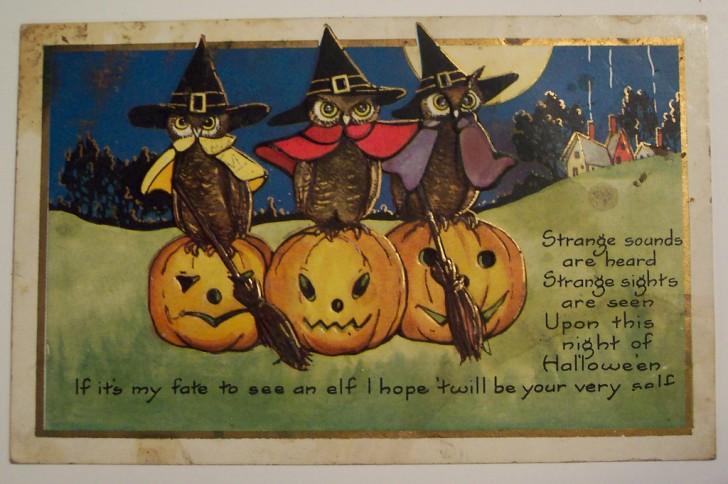 Postal Halloween vintage 019