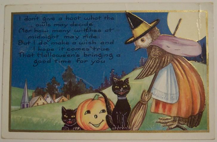 Postal Halloween vintage 020