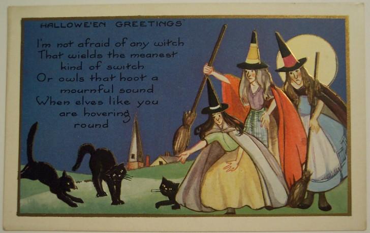 Postal Halloween vintage 023