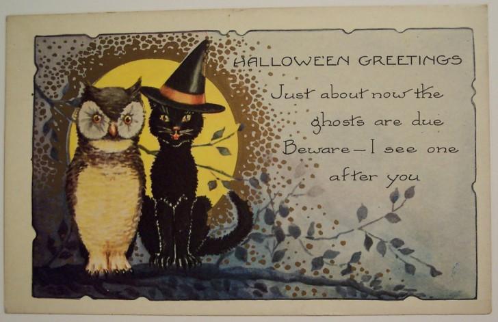 Postal Halloween vintage 024
