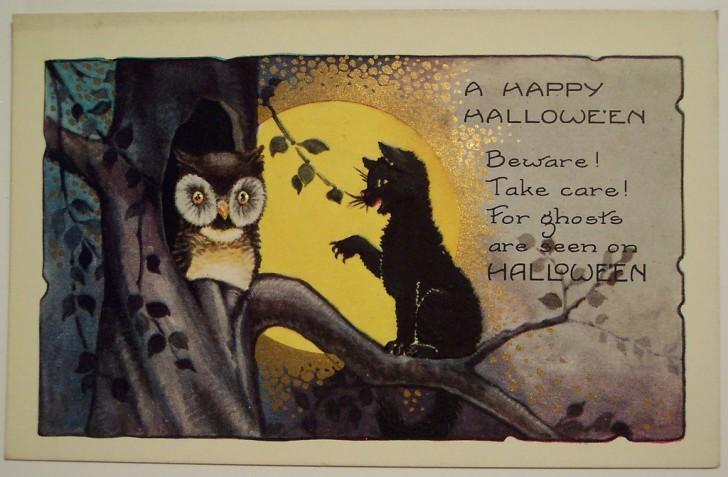 Postal Halloween vintage 025