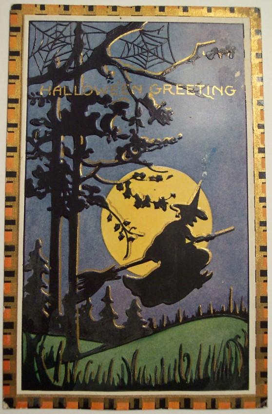 Postal Halloween vintage 026