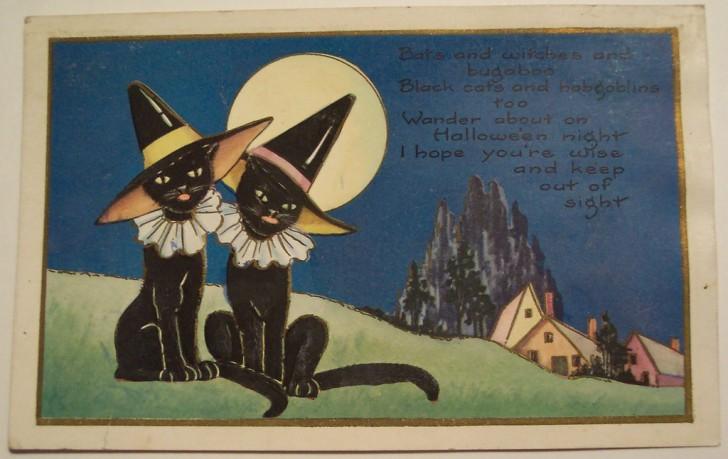 Postal Halloween vintage 027