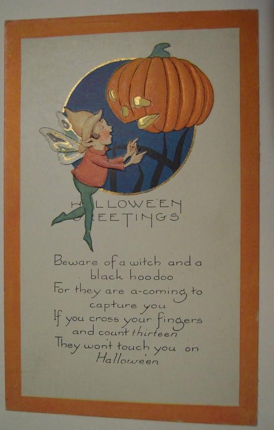 Postal Halloween vintage 029