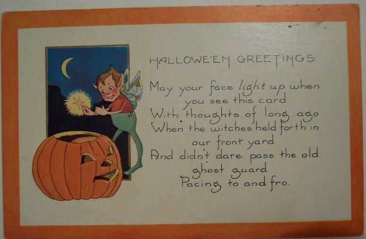 Postal Halloween vintage 031