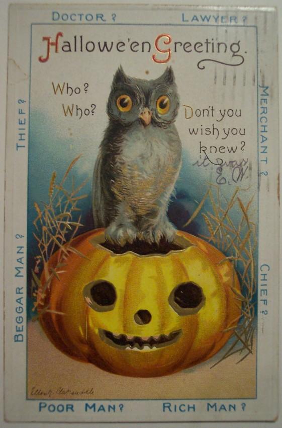 Postal Halloween vintage 032