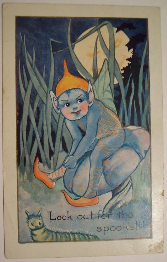 Postal Halloween vintage 033