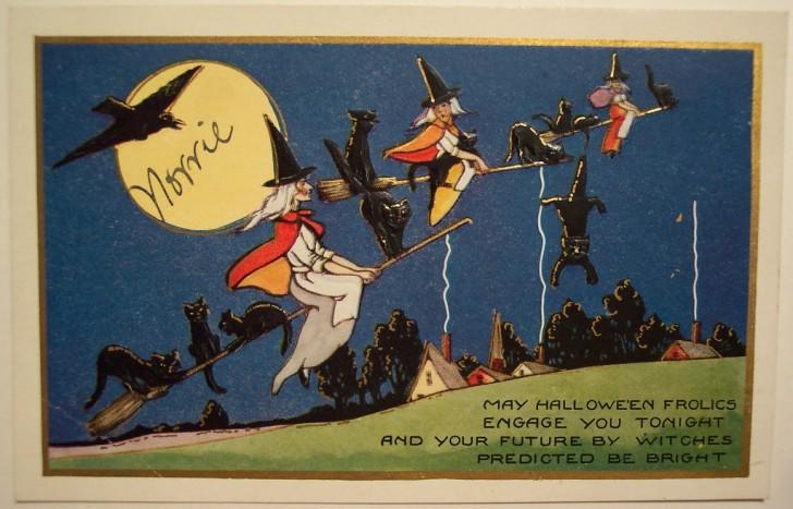 Postal Halloween vintage 035