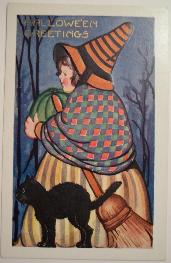 Postal Halloween vintage 036