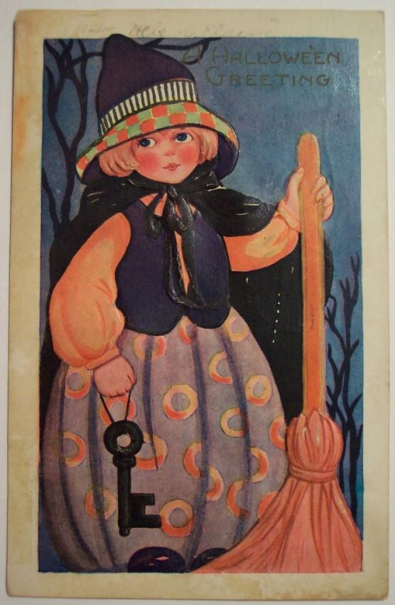 Postal Halloween vintage 037