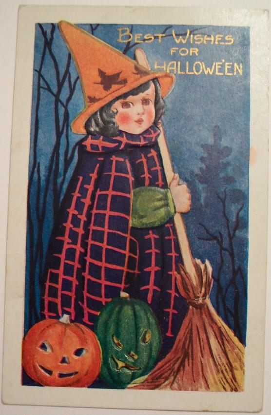 Postal Halloween vintage 038