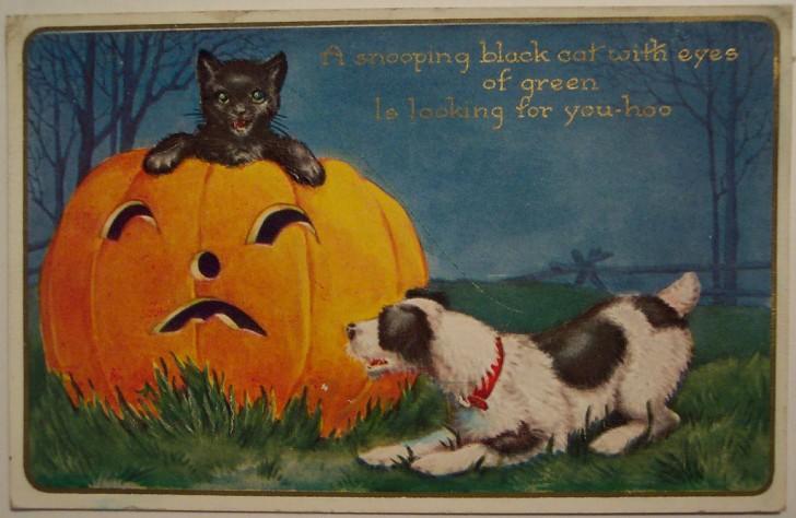 Postal Halloween vintage 039