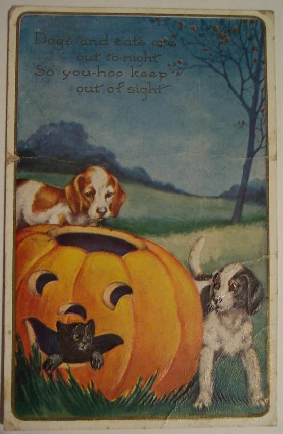 Postal Halloween vintage 040