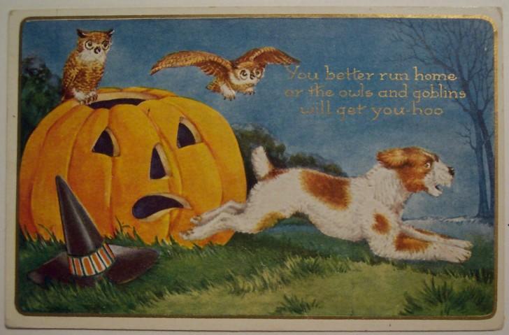 Postal Halloween vintage 041