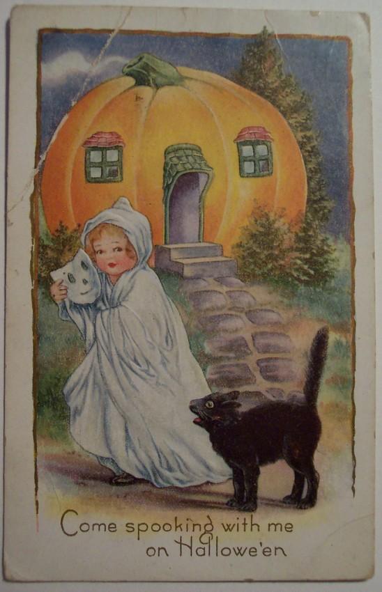 Postal Halloween vintage 042