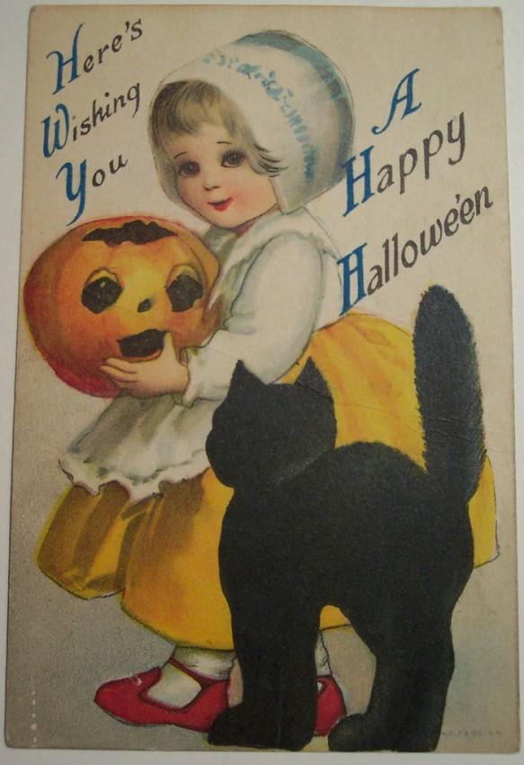 Postal Halloween vintage 043