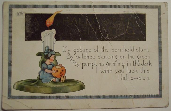 Postal Halloween vintage 044
