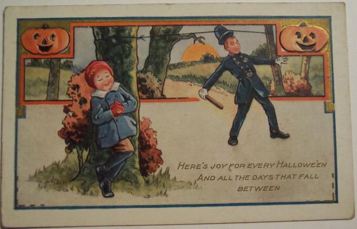 Postal Halloween vintage 046