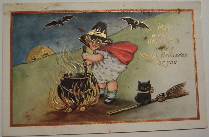 Postal Halloween vintage 047