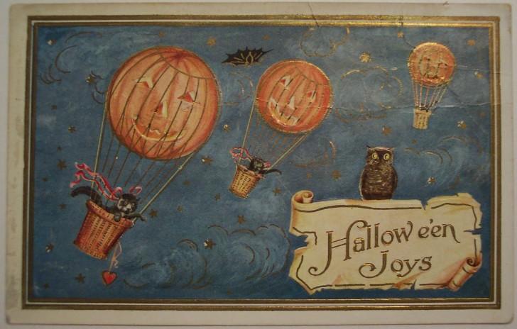 Postal Halloween vintage 048