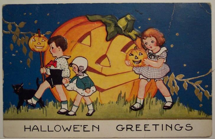 Postal Halloween vintage 049