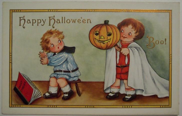 Postal Halloween vintage 050