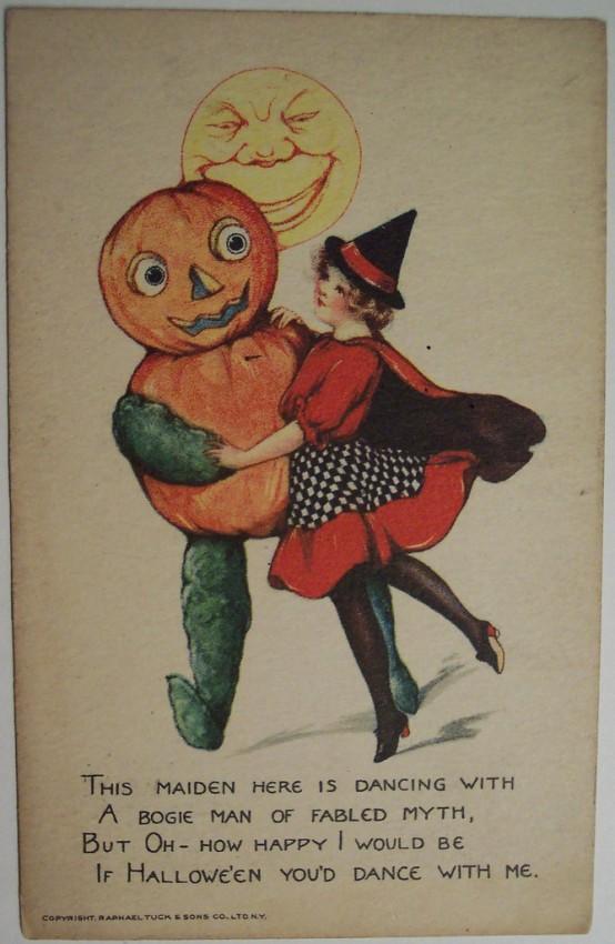 Postal Halloween vintage 051