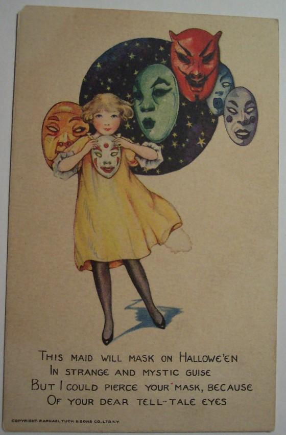 Postal Halloween vintage 052
