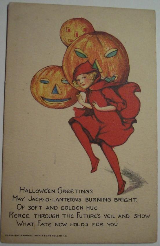 Postal Halloween vintage 053