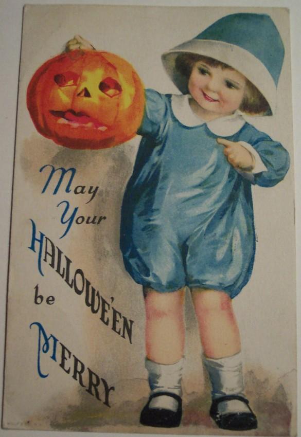 Postal Halloween vintage 054