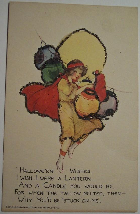 Postal Halloween vintage 055