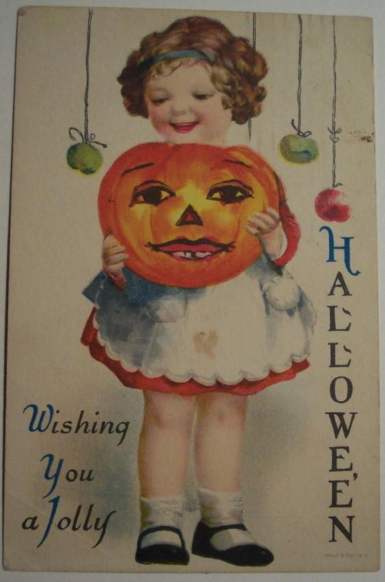 Postal Halloween vintage 056