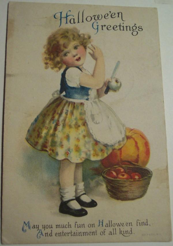 Postal Halloween vintage 057