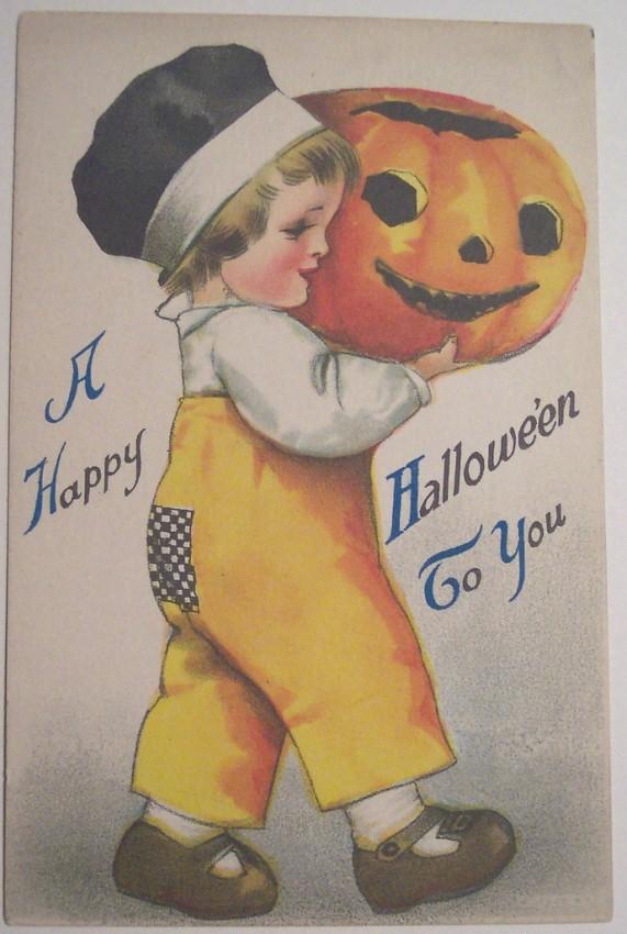 Postal Halloween vintage 058