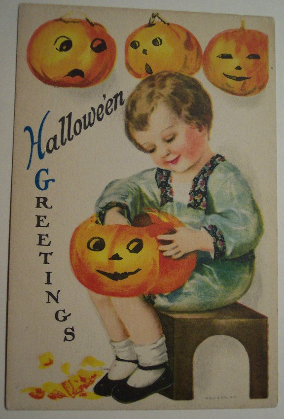 Postal Halloween vintage 059