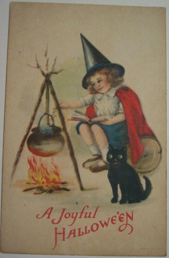 Postal Halloween vintage 060