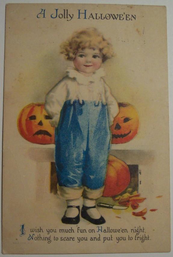Postal Halloween vintage 061
