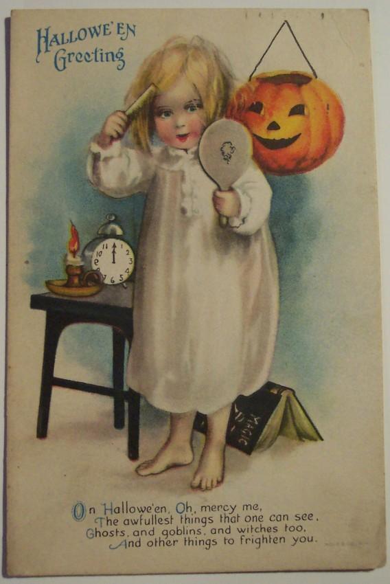 Postal Halloween vintage 062