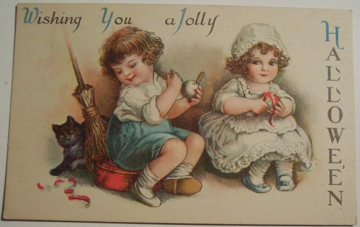 Postal Halloween vintage 063